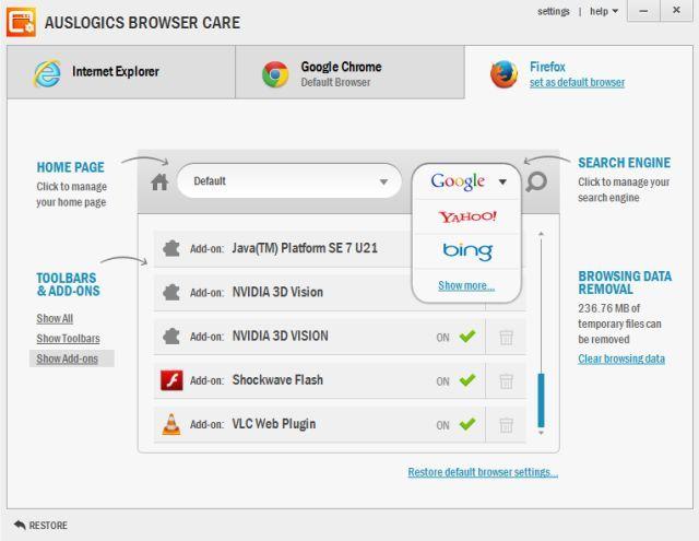 Auslogics-Browser-Care-Mozilla Firefox,