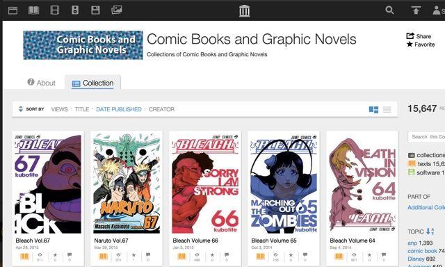 Internet-archivo-comics