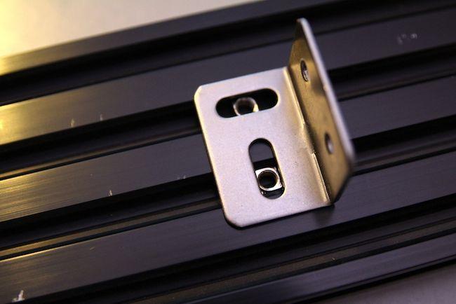Extrusión de Aluminio Soporte Posicionado