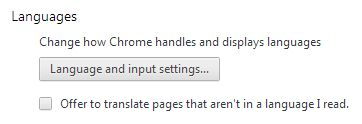 Chrome Idiomas