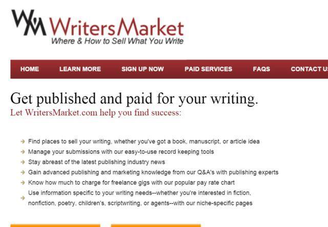 escritores en el mercado