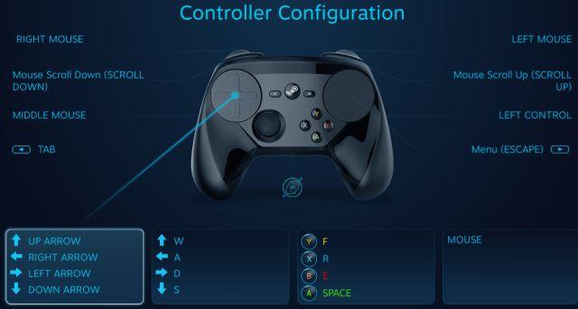 interfaz de controlador de vapor