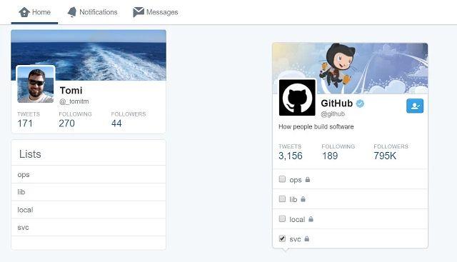 Chrome Extensión Twitter Twitter Listas Redux