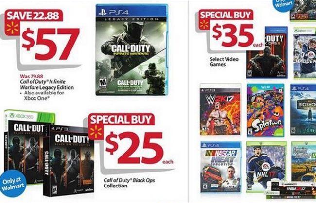 Ad Guía Gamer Viernes Negro de Walmart