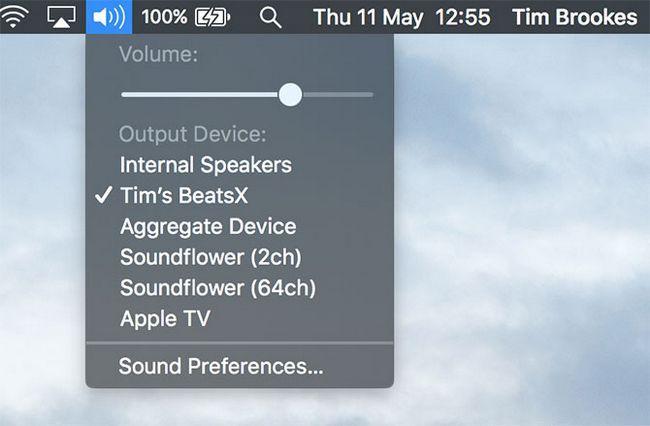 salida de audio Bluetooth