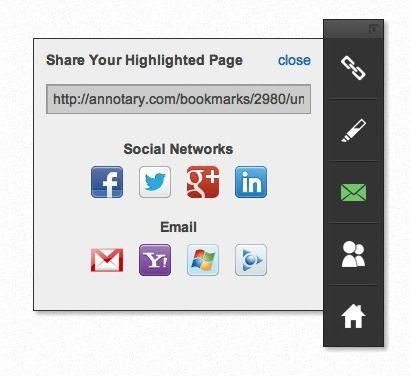 compartir páginas en línea