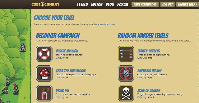 codecombat-niveles