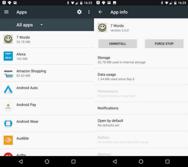 androide aplicación de desinstalación