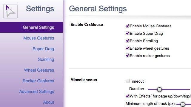 CRX-settings