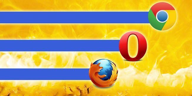 Guerra de los navegadores: firefox vs chrome vs opera, el punto de referencia definitiva