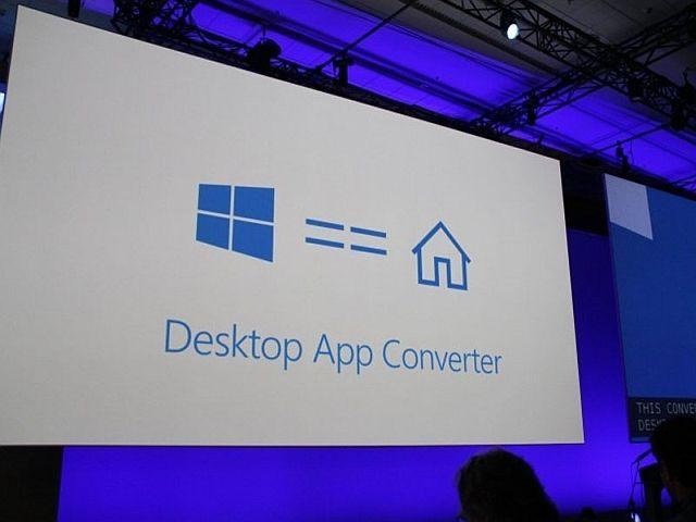 Microsoft Build 2016 aplicación de escritorio convertidor