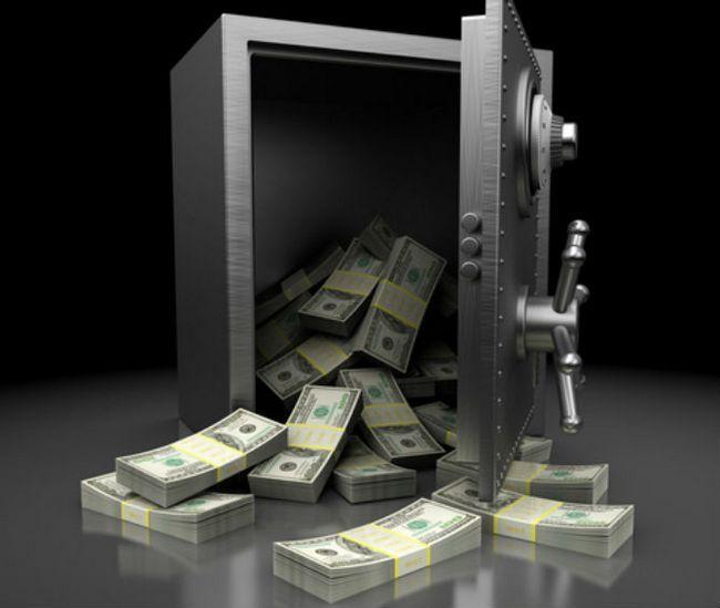 bóveda de dinero