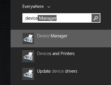 revisar las ventanas administrador de dispositivos