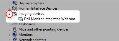 dispositivos de imágenes Administrador de dispositivos