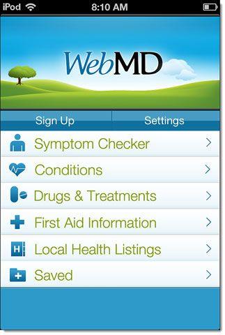 WebMD aplicación