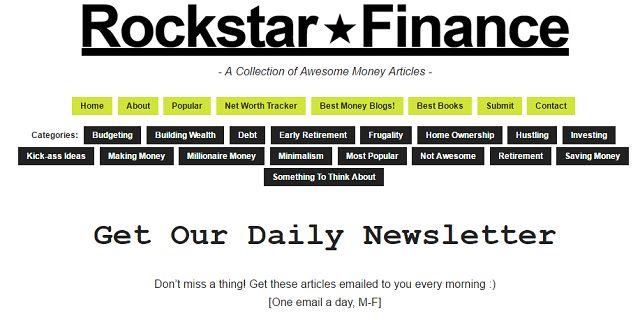 Rockstar Finanzas Boletín de Inscripción de pantalla