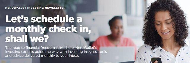 NerdWallet Boletín de Inscripción de pantalla