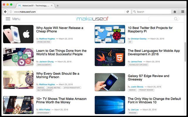 navegador Firefox en los recursos