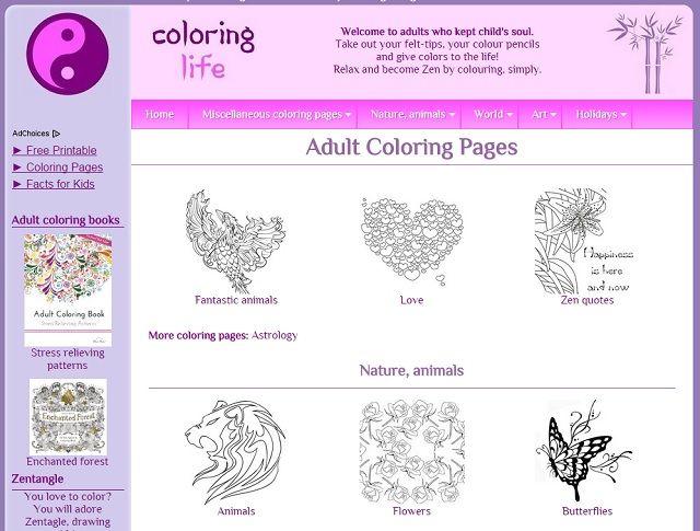 La vida para colorear