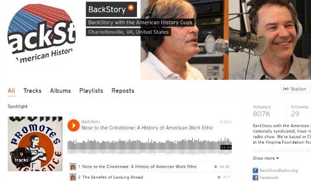 Podcast historia de fondo en SoundCloud