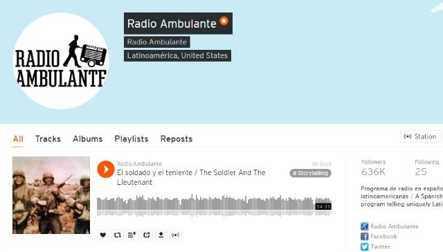 Podcast Radio Ambulante en SoundCloud