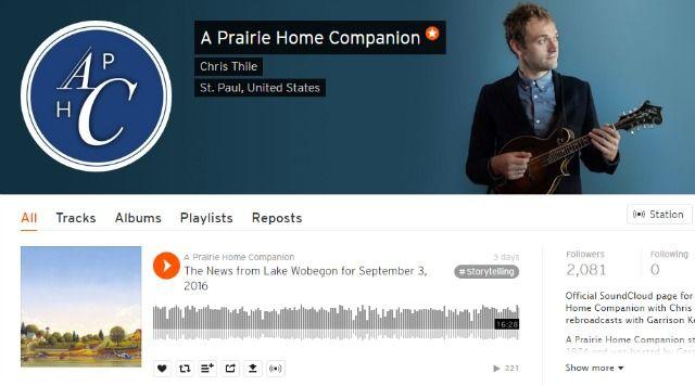 Prairie Home Companion Podcast en SoundCloud