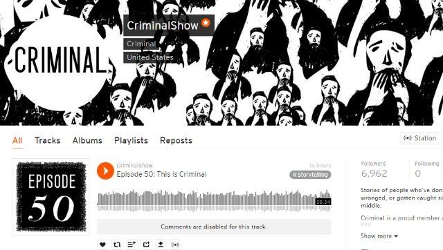 Podcast penal en SoundCloud