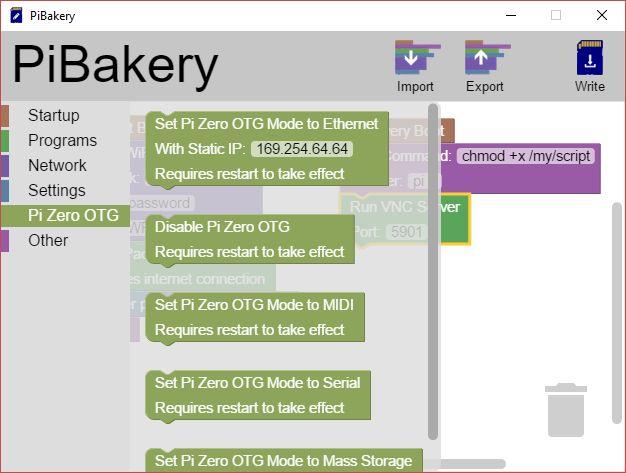 Modo MakeUseOf Linux PiBakery Pi cero OTG
