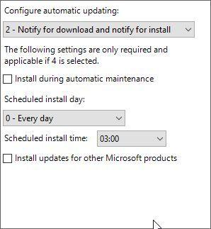 Configurar la actualización 10 de la directiva de grupo de Windows automática