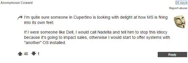 Windows 10 llamada Nadella Registro Foro