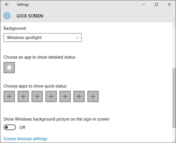 10 configuración de la pantalla de bloqueo de Windows