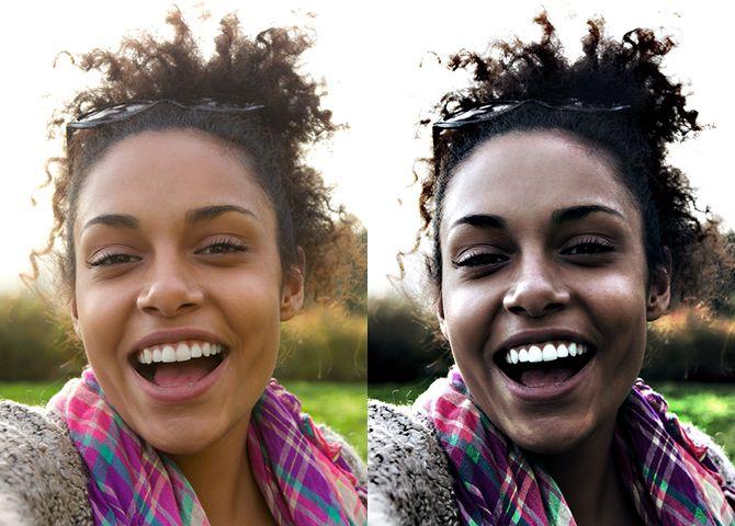 Imagen de Perfil de Antes y Después de Photoshop