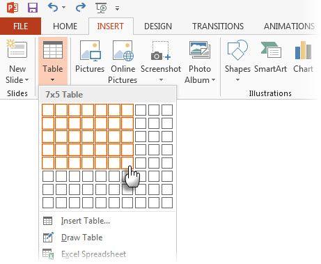 PowerPoint - Insertar tabla