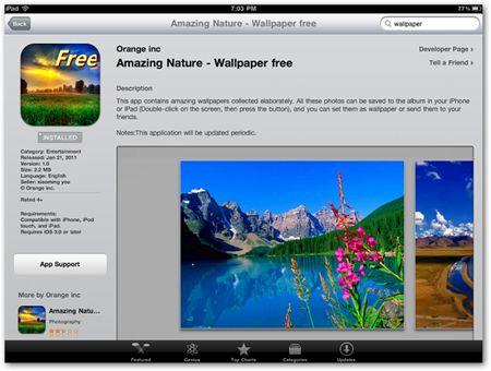 Personalizar el fondo en su ipad con fondos de pantalla naturaleza libre temáticas
