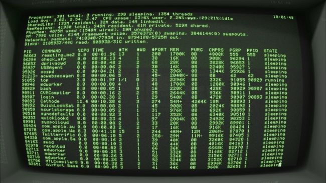 Cátodo Mac Terminal Ejemplo pantalla