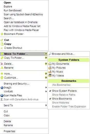 Moo0 derecho de Clicker - editor de menú del botón derecho