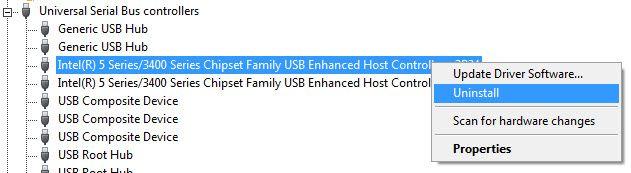desinstalar-USB-anfitrión-controladores