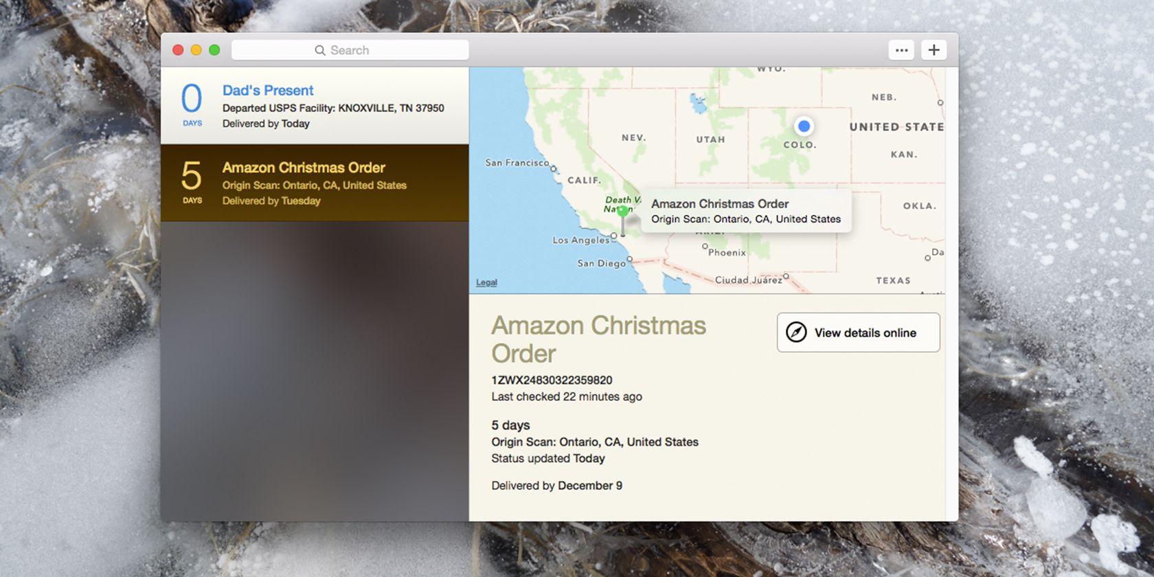 Las entregas seguimiento de paquetes entrantes, agrega fechas en su calendario