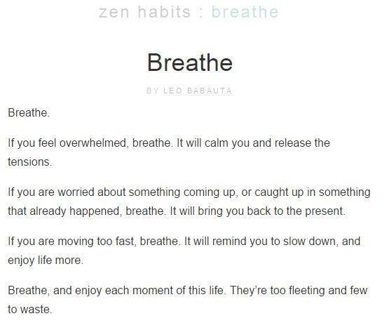 hábitos de Zen sitio