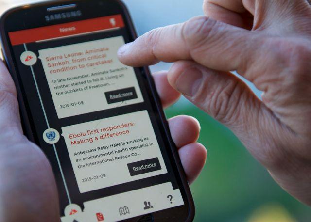 El uso de la aplicación móvil