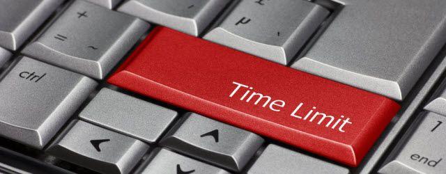 límite de tiempo de computadora