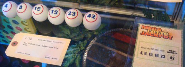 bolas de la lotería y los números de LOST
