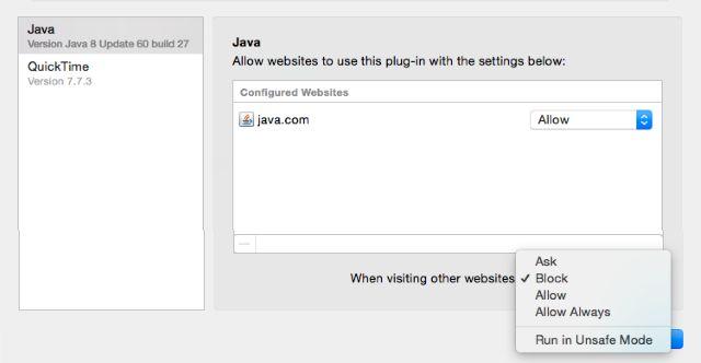 04-Desactivar Java-Safari