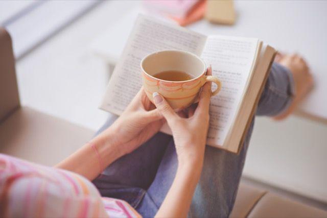 taza de té-libro