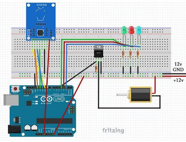 Fritzing circuito de instalación completa