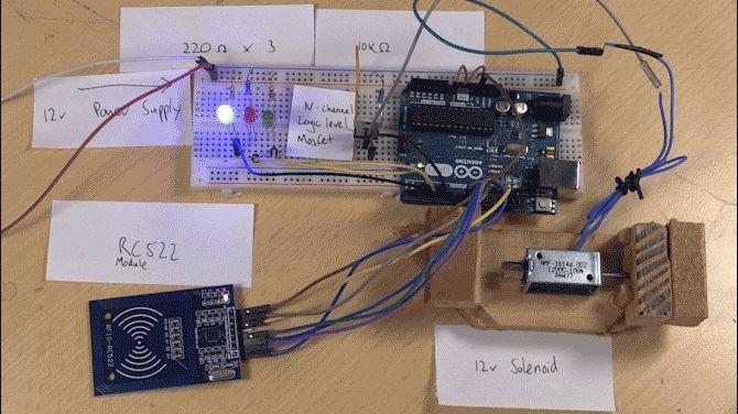 candado abierto Arduino RFID
