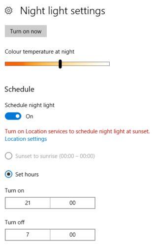 10 configuración de la luz de la noche de las ventanas