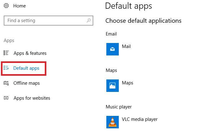 Windows 10 creadores de aplicaciones predeterminadas para la actualización