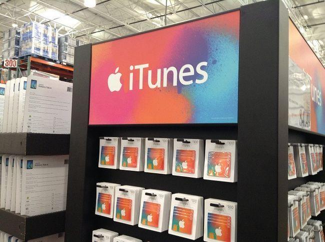 estante de tarjetas de regalo iTunes