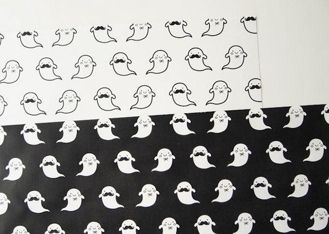 Imprimibles de Halloween - Ghouls de papel de envolver